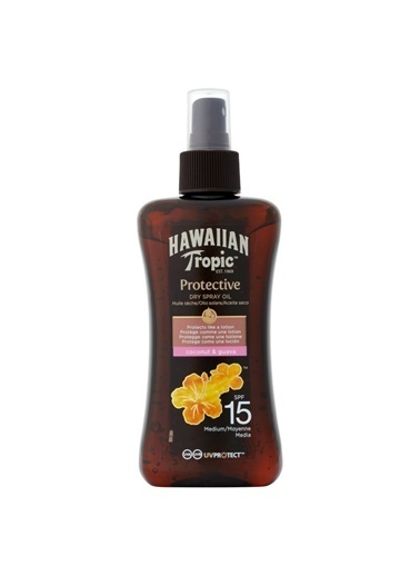 Hawaiian Tropic Protective Dry Spray Oil Spf 15 200Ml Renksiz